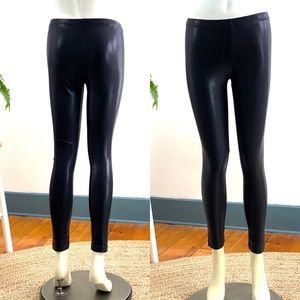 American Apparel Leggings Faux Wet Look Sz L